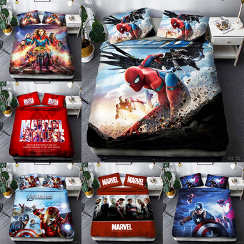 Avenger alliance film  printing Single Double Queen King Quilt cover soft 3D Bedding set Duvet with pillowcase