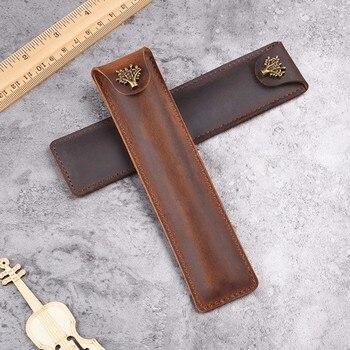 11 Pcs Per Set Leather Pencil Case Retro Handmade Leather Pen Case Creative Protective Case Wholesale Manufacturer