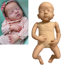 New Bebe Reborn Baby Dolls Kit Blank Lifelike Vivid Unpainted Unfinished Handmade For Kids Girl Or Boy Toys DIY Parts Molds