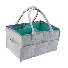 Baby Diaper Caddy Organizer Folding Storage Bin for Changing Table Tote Bag Portable Car Travel Storage Basket(China)