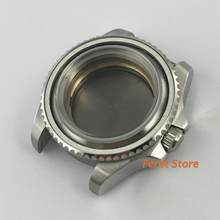 43mm Sterile SEA Case Silver Steel Case for Miyota 8215 8205 821A ETA 2836 Mingzhu DG 2813 3804 Seagull ST1612 movement p365(China)