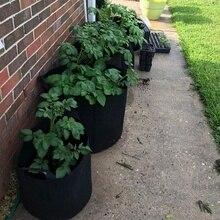 Мешки для выращивания 5 галлонов/7 галлонов/10 галлонов, 6 пачек прочные тканевые горшки для посадки растений с ручками ремней, идеально подходят для овощей и фруктов