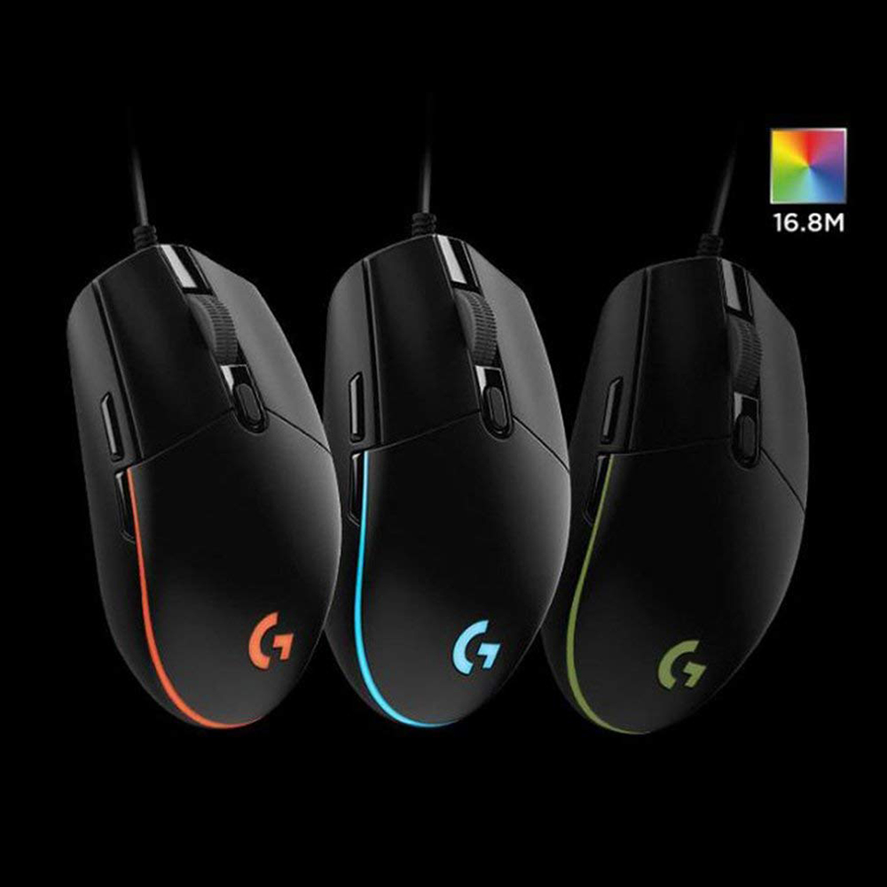 Image 3 - Original Logitech G102 IC PRODIGY/LIGHTSYNC Gaming Mouse Optical 8000DPI 16.8M Color LED Customizing 6 Buttons WiredMice   - AliExpress