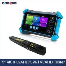5 дюймовый тестер системы скрытого видеонаблюдения IPC-5000 5100 5200 плюс полный 8MP IP CVI TVI аналоговая камера высокого разрешения SDI Аналоговые 6 в 1 ...
