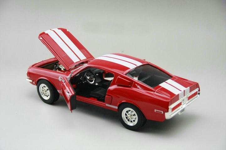 Изысканная 1:18 1968 500kr винтажная модель автомобиля коллекция из красного сплава модель двери может быть открывается - 4
