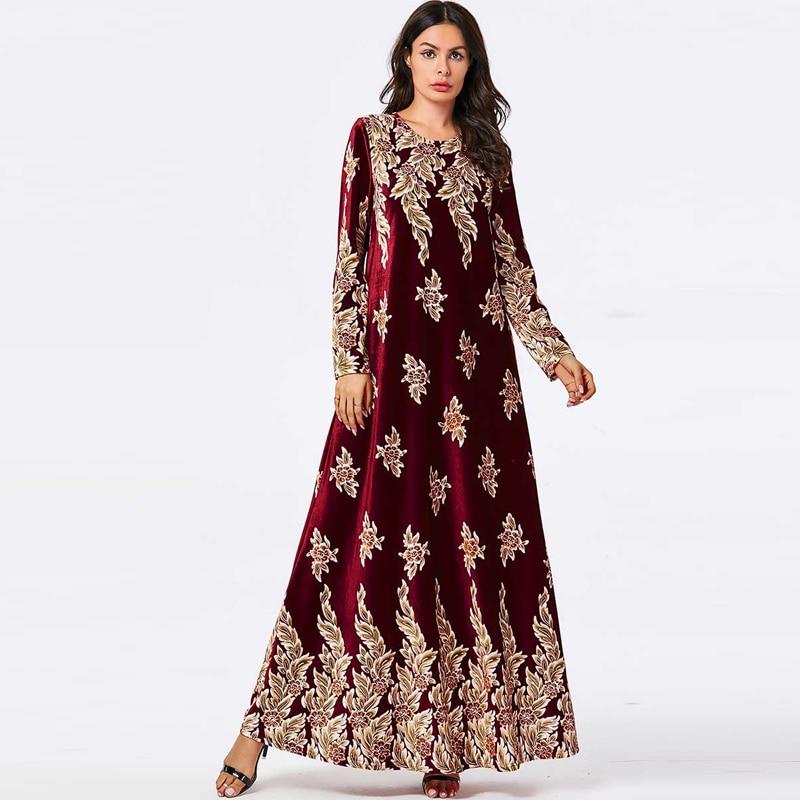 Floral Abaya Dubai Turkey Islam Arabic Muslim Hijab Dress Kaftan Qatar Robe Turkish Islamic Clothing Abayas For Women Dresses