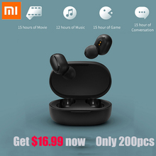 Xiaomi Redmi AirDots TWS True Wireless Music Stereo Bluetooth 5.0 Earphones DSP Active Noise Cancellation Auto Charging Box wireless business affairs bluetooth earphones pleasant 180 degree rotating stereo music headset noise cancellation earbuds eh