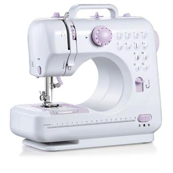 Portable Sewing Machine 7.2W Mini Electric Home Electric Sewing Machine Hand-Held Sewing Machine Purple White ABS Automatic