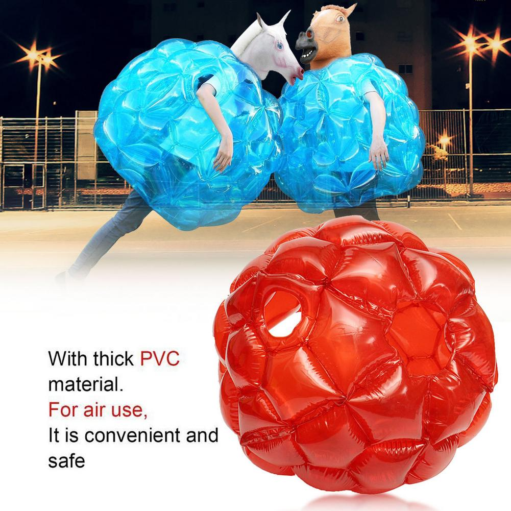 Bubble Bumper Balls Blue 90CM PVC Collision Ball Inflatable Bubble Ball Athletic Pair