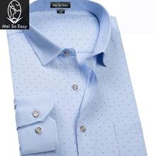 Nowa dostawa na wiosnę jesień koszula z długim rękawem drukuj moda męska super duże duże kropki plus rozmiar M L-7XL8XL9XL tanie tanio COTTON Tuxedo koszule Pełna Plac collar Pojedyncze piersi REGULAR Suknem Formalne Polka dot Shirts