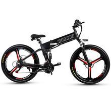 Electrical Bike 350w 26 Inches Folding Mountain Ebike Built-in Wheel Hydraulic Disc Brake Gear Grownup Off-road Cyling