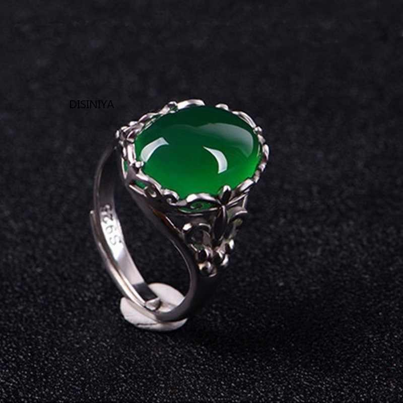 DISINIYA หรูหรา,สง่างาม,แฟชั่น,ผู้หญิง PARTY,งานแต่งงาน,ของขวัญ,Jadeite หยก,ปรับแหวนเปิด JJZ5190