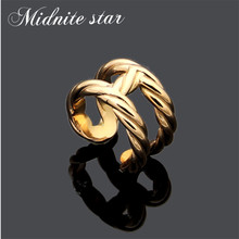Fashion Top Quality Stainless Steel Charm Finger Rings  Plating Women Ring Trendy Female Jewelry Gift