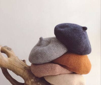 kids children Cool Wind Children Knitted Berets Winter and Autumn Curling Pumpkin Hat Painters Cap Babys Wool