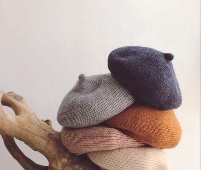 Kids Children Cool Wind Children Knitted Berets Winter And Autumn Curling Pumpkin Hat Painter's Cap Baby's Wool Cap