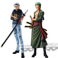 Tronzo Large Original Banpresto One Piece Grandista THE GRANDLINE MEN Roronoa Zoro Trafalgar Law PVC Action Figure Model Toys
