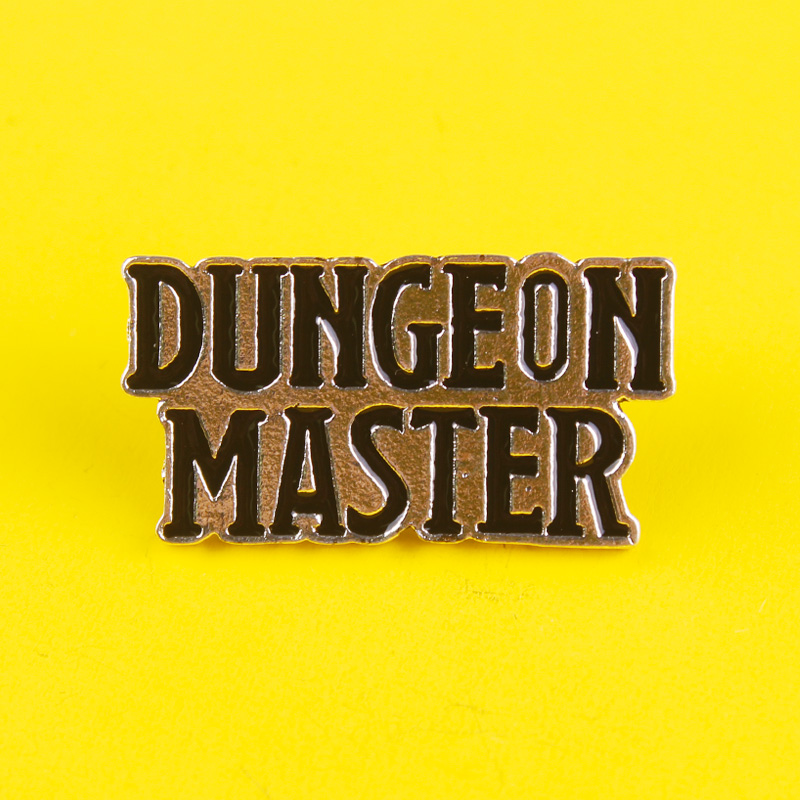 Pin For Backpack Dungeon Master Enamel Pins Kawaii Badge On Clothes Anime Icons Stripe Set Metal Badges Paired Jewelry