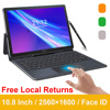 2021 Global Version 2 in 1 Tablet PC 4G Laptop Tablets 10.8 Inch 2560*1600 Android Tablet With Keyboard MT6797 Kids Tablet GPS