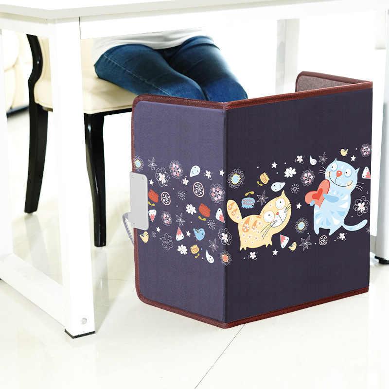 Офисный стол с теплым артефактом для ног, отображение температуры в реальном времени, подогреватель ног, мини нагреватель, электрическое одеяло с подогревом