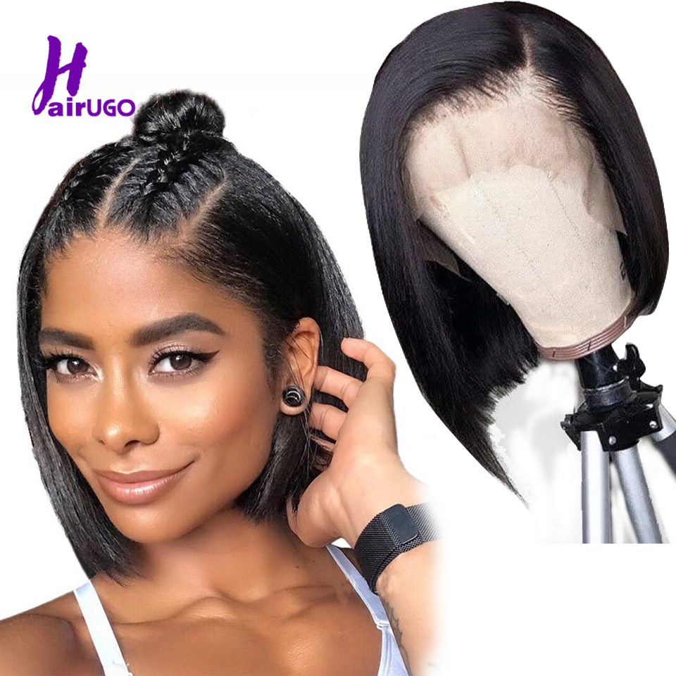 Malaysia Straight Human Hair Bob Wigs 13*4 Lace Front Wigs 8''-14'' Inch Remy Short Bob Wig For Black Women Natural Pre Plucked