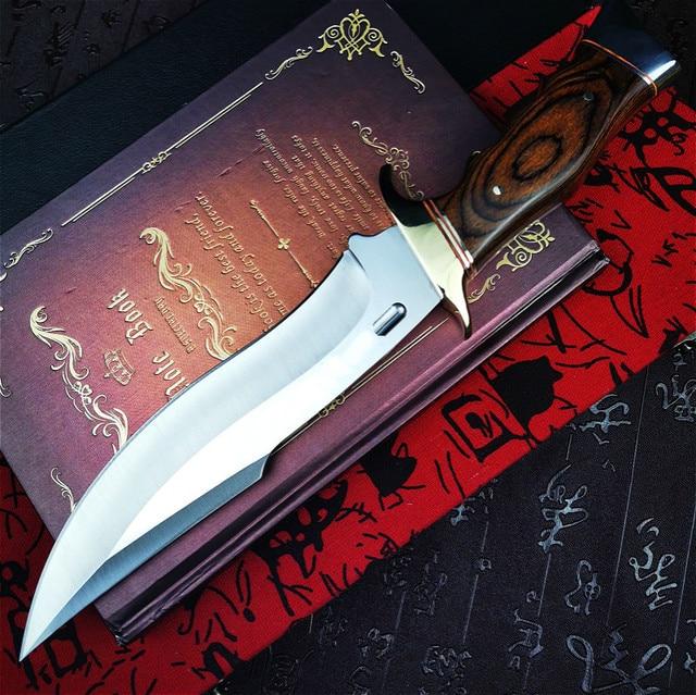 PEGASI  U.S.A(DEHONG )SA78 enhanced hunting straight blade rescue knife camping straight blade Mirror light  tactical knife 3