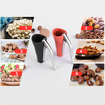 TTLIFE Zinc Alloy Pecan Nut Cracker Walnut Nutcracker Pine Cascanueces Sheller Funnel Frosted Grips Pliers Clamp Kitchen Tool image