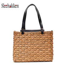 Rattan shoulder bag exquisite hand-woven crossbody beach travel and daily necessities lady Sam Wicker medium tote rattan