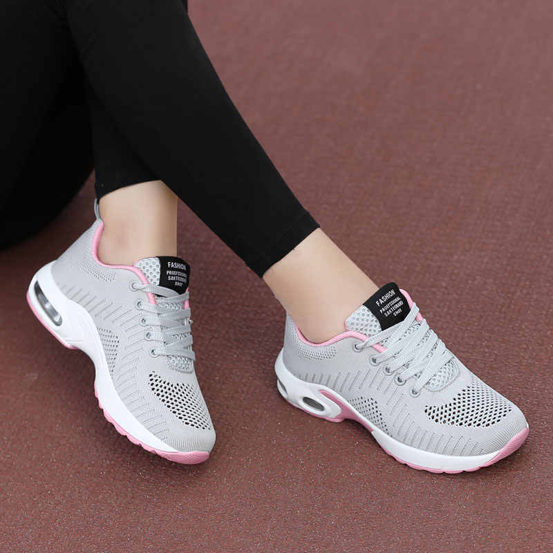 Jodimitty di Modo Delle Donne Scarpe da Tennis di Estate Scarpe Donna Air Mesh Cuscino Signore di Smorzamento di Sport a Buon Mercato di Vendita Scarpe Flat Più Il Formato 42