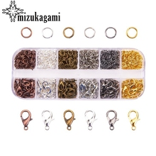 1Box 6 Colours Zinc Alloy lobster buckle jewelry buckle single circle mixed colo