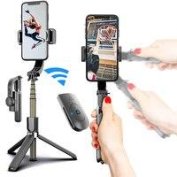 Trípode estabilizador de cardán de mano L08 para teléfono móvil, palo de Selfie para teléfono inteligente, soporte inalámbrico ajustable para grabación de vídeo