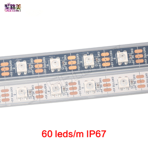Image 5 - 1m 5m DC5V WS2812B WS2812 Led פיקסל רצועת מיעון בנפרד חכם RGB Led רצועת אור קלטת שחור לבן PCB IP30/65/67