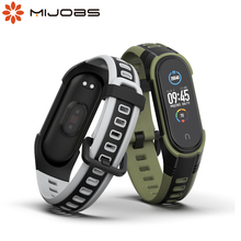 For Xiaomi Mi Band 5 NFC Strap Bracelet for Mi Band 4 Strap Silicone Correa Wrist Watch Wristbands for Mi Band 3 Global Version