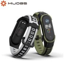 Для Xiaomi Mi Band 5 NFC Ремешок Браслет для Mi Band 4 ремешок силиконовый Correa наручные часы браслеты для Mi Band 3 глобальная версия