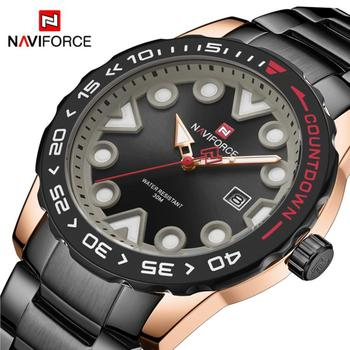 NAVIFORCE 9178 Watch Men Steel Men Watch Quartz Clock with box