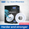Кольцо для пениса Durex, многоразовое кольцо для эрекции, длительное время тренировки, кольца для пениса с задержкой, интимные товары для взро...
