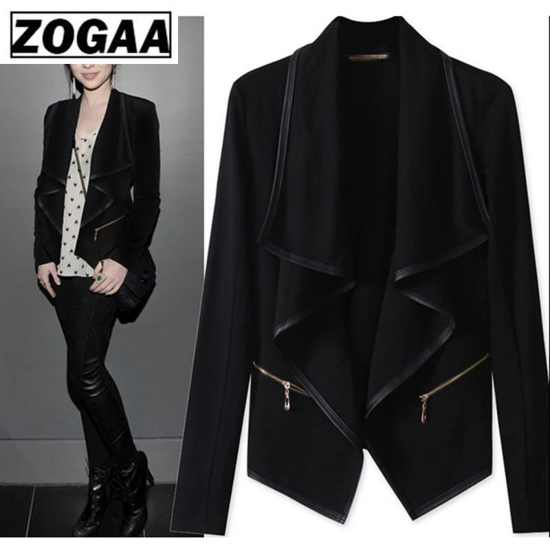 2019 Women Spring Fashion Office Ladies Blazer Female Solid Shawl Neck Long Sleeve Slim Suit Jacket Casual Elegant Jacket ZOGAA
