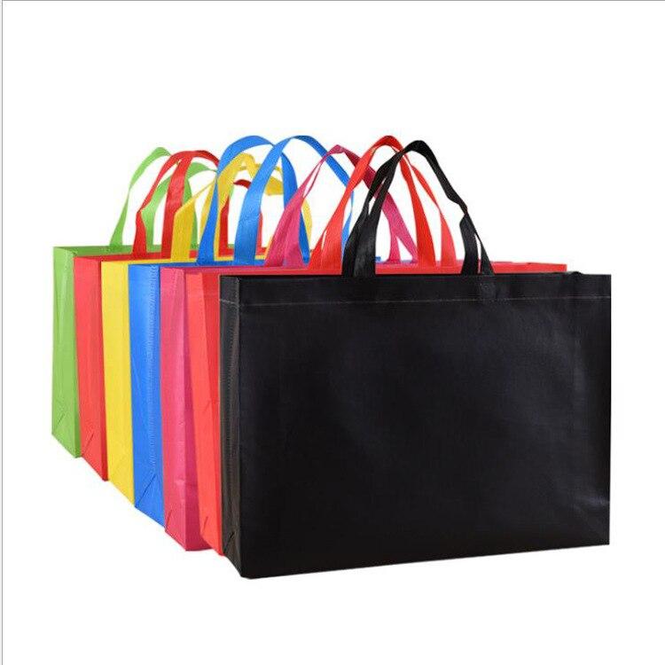 20 шт., пакеты для подарков на день рождения, сувениры, подарочные пакеты с ручками, пакеты для подарков, однотонная тканевая сумка для покупо...