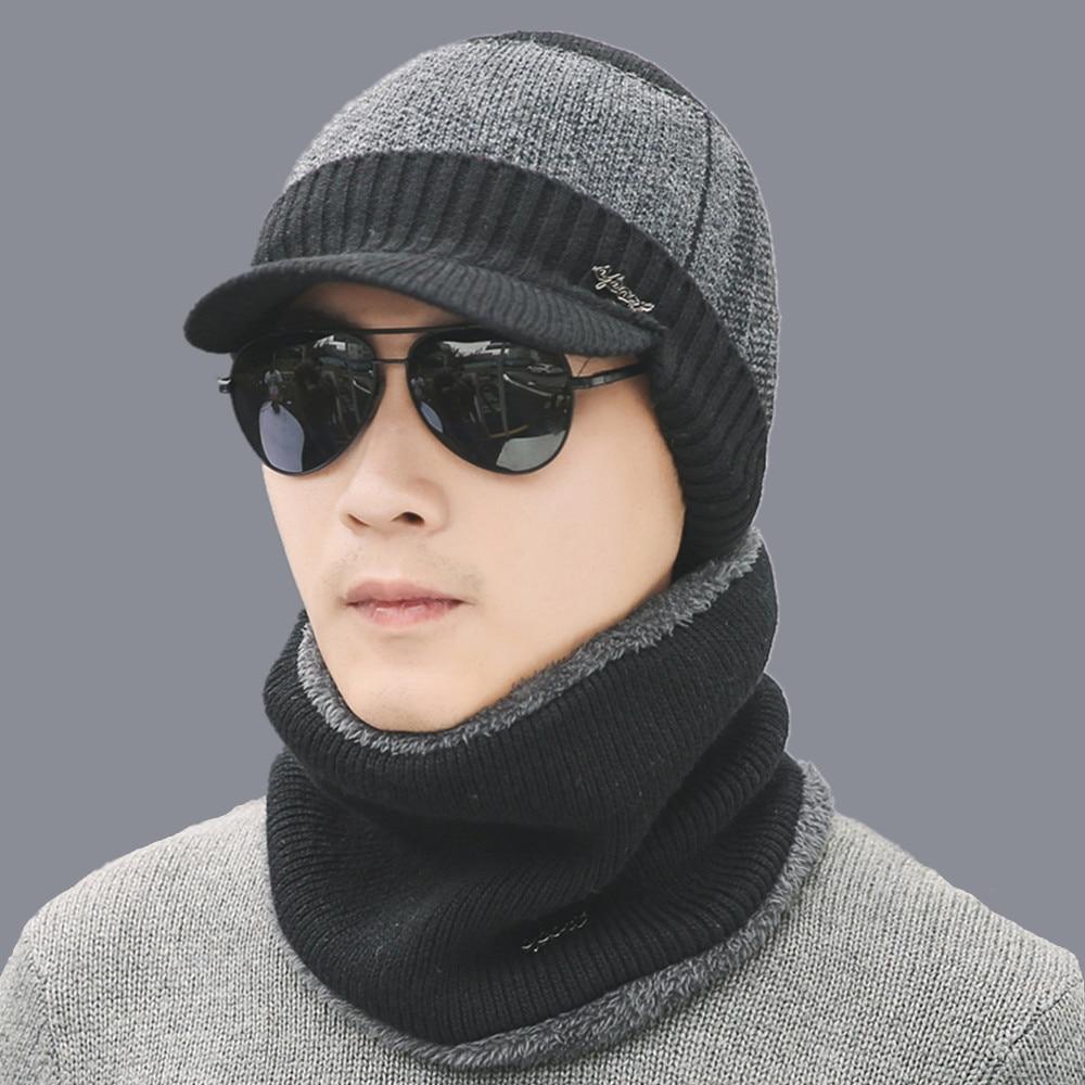 2018-Chapeaux-D-hiver-Skullies-Bonnets-Chapeau-D-hiver-Bonnets-Pour-Hommes-Femmes-Laine-charpe-Caps