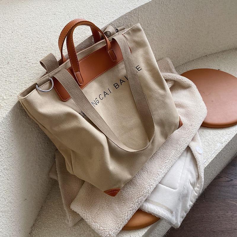 Décontracté femmes sacs à main concepteur lettres épaule sacs à bandoulière femme grande capacité fourre-tout en cuir patchwork shopper sac