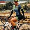 Kafitt triathlon terno conjuntos de camisa de ciclismo feminino uniforme manga longa skinsuit macacão macaquinho ciclismo feminino 16