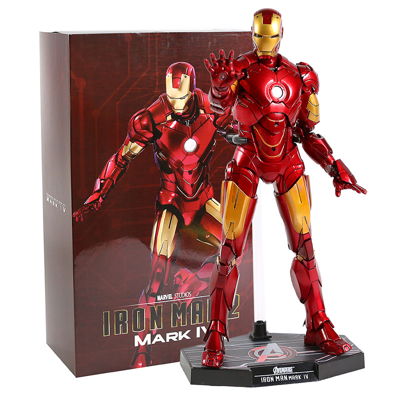 Hot Toys Iron Man 2 Mark IV MK 4 PVC Action Figure Collectible Model Toy With LED Light