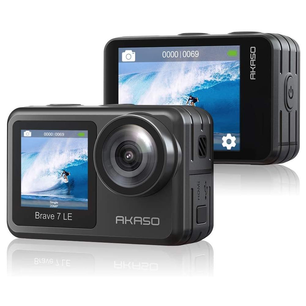 AKASO Brave 7 LE 4K 30FPS 20MP WiFi экшн-камера Сенсорный экран EIS дистанционное управление Спортивная камера s подводный водонепроницаемый шлем Cam
