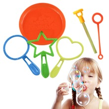 6Pcs Bubble Wand Tool Soap Bubble Maker Blower Set Bubble Concentrate Stick For Kids Children Fun Toys For Outdoor Toy t357 free shipping blower inflatable bubble room bubble tent transparent durable photo snow globe for christmas day family fun