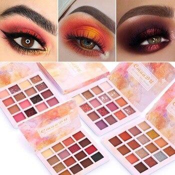 CmaaDu 16-color Matte Shiny Eyeshadow Long-lasting Waterproof Eye Shadow Natural Eyes Makeup Palette Comestic TSLM1 2