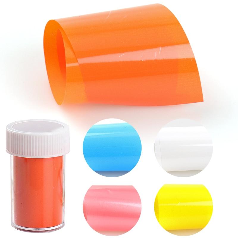 Наклейки из фольги для переноса ногтевого дизайна, белые, оранжевые, синие, желтые, цветные, 4*100 см, в рулоне, очаровательные, лаки для ногтей, ...