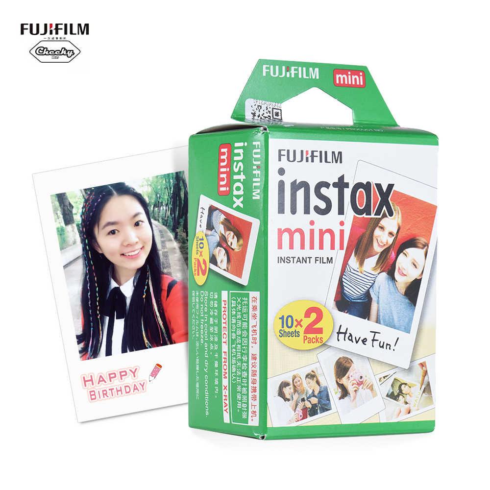 Fujifilm Instax فيلم صغير أبيض 10-200 ورقة ل فوجي كاميرا فوتوغرافية الفورية Mini 9 Mini 8 7s 70 90 + ألبوم صور حافظة للبطاقات الحرة