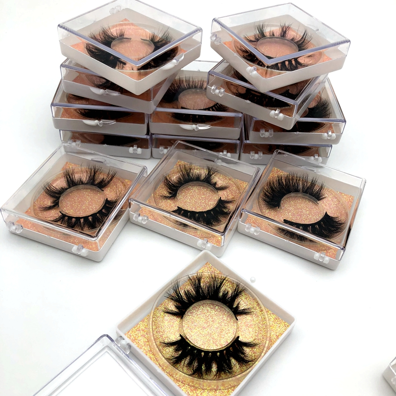 Fluffy 25mm Lashes Natural 3D Mink Eyelashes Extension Long False Eyelashes Faux Cils Volume Fake Eyelashes False Lashes