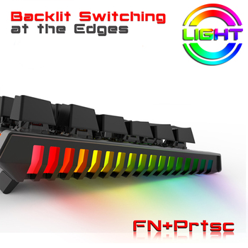 Mechanical Keyboard Wired Gaming Keyboard RGB Mix Backlit 87 104 Anti-ghosting Blue Red Switch For Game Laptop PC Russian US 5
