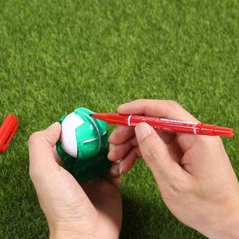 Golf escriba clip accesorio suministros transparente de marcador pluma PuttingAlignment plantilla marcas de herramientas