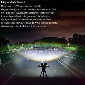 Image 5 - 6D lentille 5 pouces rond carré Led lumière de travail 12V pour voiture 4WD ATV SUV UTV camions 4x4 Offroad moto Auto travail conduite lumières
